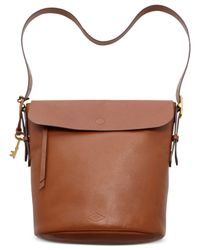 Fossil | Brown Haven Leather Bucket Bag | Lyst