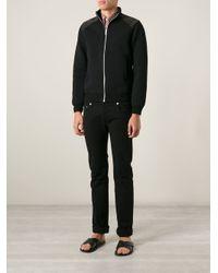 Fendi - Black Zip Sweatshirt for Men - Lyst