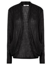 Oasis Black Lace Drape Cardigan