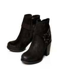 Moda In Pelle | Black Bria Medium Casual Short Boots | Lyst