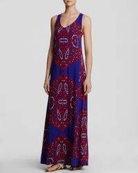 Ella Moss | Blue Dress - Fez Printed Maxi | Lyst