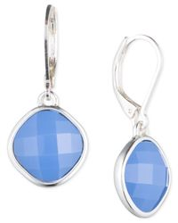 Nine West | Blue Stone Drop Leverback Earrings | Lyst