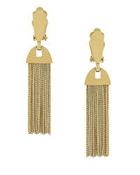 Vince Camuto | Metallic Drapey Chain Tassle Clip-on Earrings | Lyst