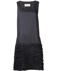 Dosa | Black Simple Ruffled Dress | Lyst