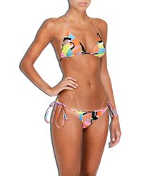 MILLY - Multicolor Cabana Graphic Print Biarritz Bikini Bottom - Lyst