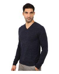 Lucky Brand | Blue White Label V-neck Sweater for Men | Lyst