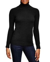 Aqua | Black Cashmere Turtleneck Sweater | Lyst