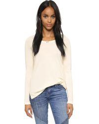 Sundry - White Long Sleeve Raglan Sweatshirt - Black - Lyst