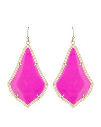 Kendra Scott | Purple Alexandra Earrings | Lyst