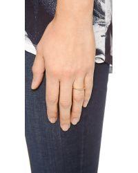 Gorjana - Metallic Shimmer Bar Ring - Gold/Clear - Lyst