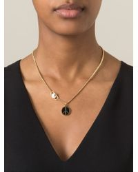 Marc By Marc Jacobs Metallic Enameled Brass Peace Pendant Necklace