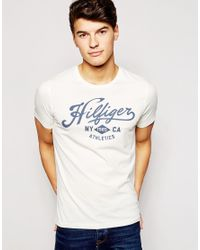 Tommy Hilfiger White Norton Logo Regular Fit T-shirt for men