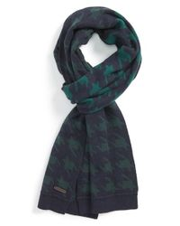 Ted Baker | Blue 'twenton' Houndstooth Scarf for Men | Lyst