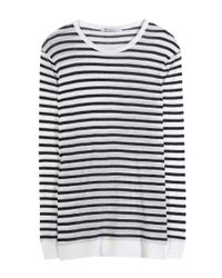 T By Alexander Wang | Black Striped Sweater | Lyst