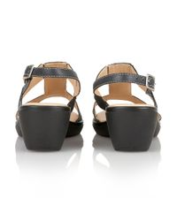 Lotus | Blue Jenga Open Toe Sandals | Lyst