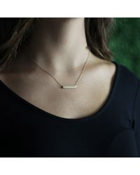Monique Péan | White Diamond Bar Necklace | Lyst