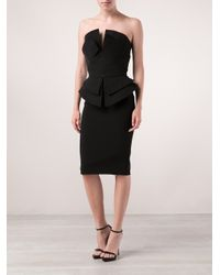 Martin Grant Black Structured Bustier Top