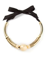 Lanvin | Metallic 'polly' Necklace | Lyst