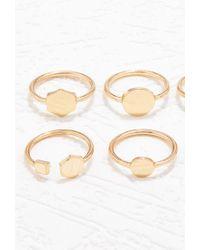 Forever 21 - Metallic Geo-shape Ring Set - Lyst
