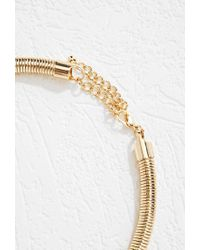 Forever 21 - Metallic Coil Necklace - Lyst