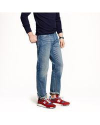 J.Crew | Blue Straight Jean In Vintage Worn Wash for Men | Lyst