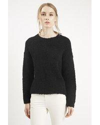 TOPSHOP Black Boucle Sweater