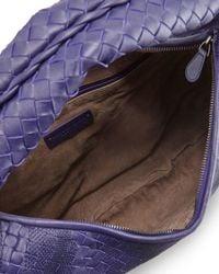 Bottega Veneta - Blue Veneta Intrecciato Maxi Hobo Bag - Lyst