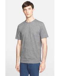 Norse Projects - Gray 'james Moulinex' Crewneck T-shirt for Men - Lyst