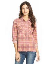Billabong | Natural 'waiting For Dawn' Flannel Shirt | Lyst