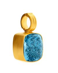 Dina Mackney - Blue Topaz Enhancer Pendant - Lyst