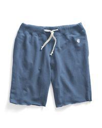Todd Snyder | Blue Cut Off Gym Shorts In Ocean for Men | Lyst