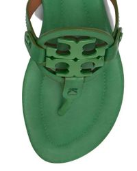 Tory Burch - Green Miller Leather Sandal - Lyst