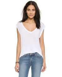 LNA | Rolled Sleeve Tee - White | Lyst