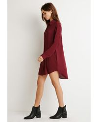 Forever 21 | Purple Buttoned Shirt Dress | Lyst
