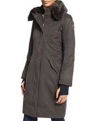 Nobis - Black Lady Taylor Coat With Removable Fur Collar - Lyst