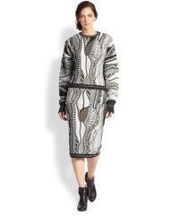 Rag & Bone - Gray Coogi Knit Pullover - Lyst