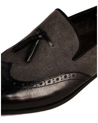 Dune | Gray Applaud Tassle Loafers for Men | Lyst