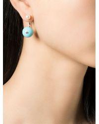 Delfina Delettrez | Blue 'stone Edge Piercing' Earring | Lyst