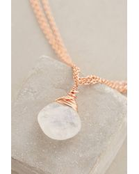 Anthropologie - Pink Morning Moon Pendant Necklace - Lyst
