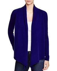 Aqua | Blue Cashmere Cashmere Drape Front Cardigan | Lyst