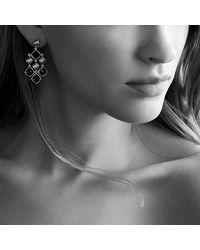 David Yurman | Black Sculpted Cable Chandelier Earrings | Lyst