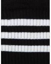 JOSEPH - Black Cotton Stripe Socks - Lyst