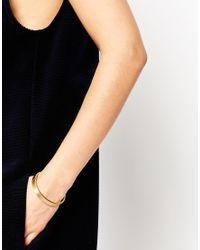 Pieces | Metallic Valora Clean Metal Bangle Bracelet | Lyst