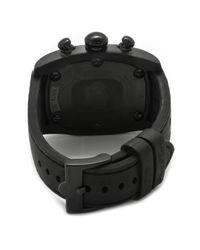 Glam Rock - Men'S Gulfstream Chronograph Black Dial Blue Ceramic Case Cover Black Silicone for Men - Lyst