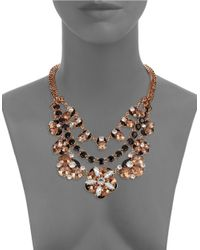 Kate Spade | Metallic Fame And Flowers Statement Necklace | Lyst