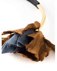 Marni | Black Flower Detail Necklace | Lyst
