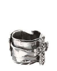 Emanuele Bicocchi - Metallic Sterling Silver Cross Ring for Men - Lyst