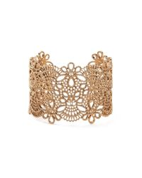 Forever 21 | Metallic Etched Filigree Wrist Cuff | Lyst