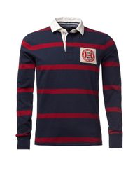 Tommy Hilfiger | Blue Tylor Rugby Top for Men | Lyst