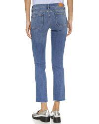 M.i.h Jeans Blue The Paris Crop Jeans